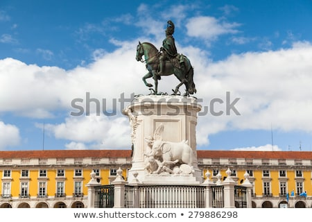 Comercio cuadrados rey estatua Lisboa panorámica Foto stock © diego_cervo
