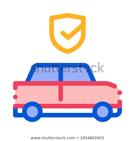 Parking Auto Confirmation Icon Vector Outline Illustration Stock photo © pikepicture
