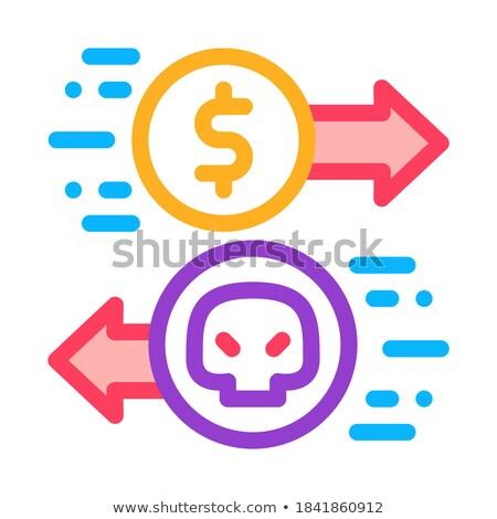 Betaling hacker diensten icon vector schets Stockfoto © pikepicture