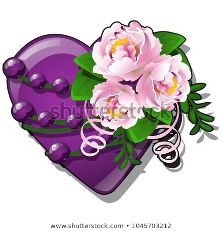 форме сердце Purple цвета украшенный Сток-фото © Lady-Luck