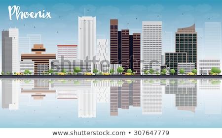 Phoenix skyline grigio edifici cielo blu riflessioni Foto d'archivio © ShustrikS