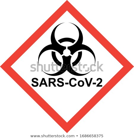 Red biohazard sign with MERS-CoV text Stock photo © alessandro0770