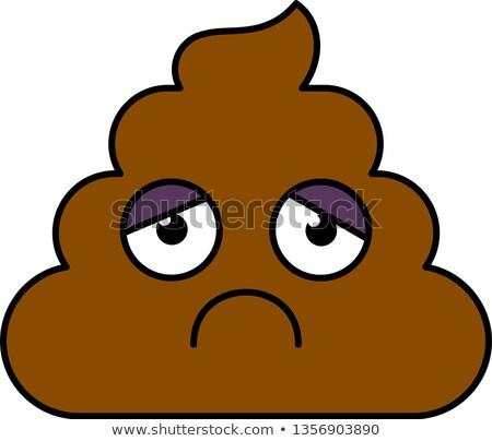 Sad, depressed turd emoji vector illustration Stock photo © barsrsind