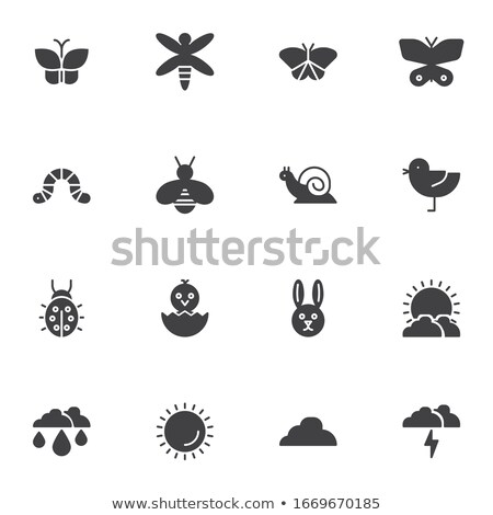 トンボ ピクセル アイコン 動物 孤立した 庭園 ストックフォト © Imaagio