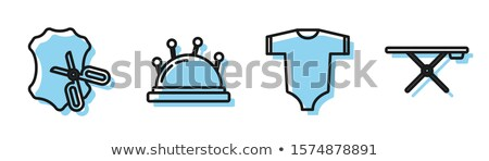 Baby Clothes And Tools Onboarding Elements Icons Set Vector Stock photo © pikepicture