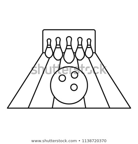 Bowling Lanes Icon Vector Outline Illustration Stock photo © pikepicture