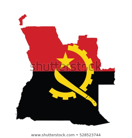 Angola flag, vector illustration on a white background Stock photo © butenkow