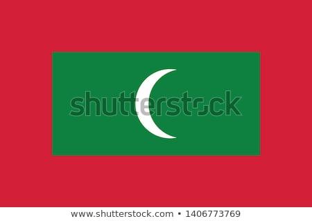 Мальдивы флаг белый знак ткань стране Сток-фото © butenkow