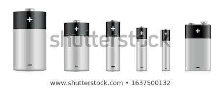 Realista bateria branco isolado grupo eletricidade Foto stock © evgeny89