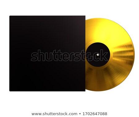 Gouden album vinyl schijf dekken Stockfoto © evgeny89