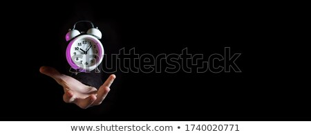 Male magician with banner Stock photo © bluering
