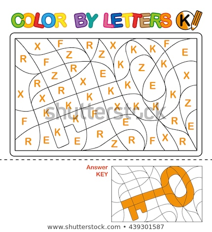 letter k educational task coloring book page Stock photo © izakowski
