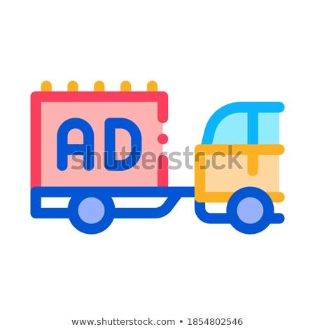 Ruchu reklama samochodu ikona wektora Zdjęcia stock © pikepicture