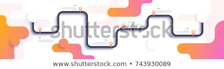 Kant van de weg business abstract vector illustraties ingesteld Stockfoto © RAStudio