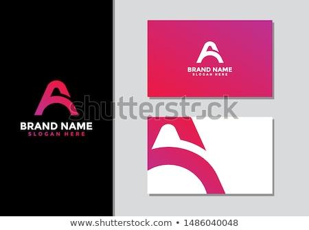 creative initial letter a logo set Stock photo © krustovin