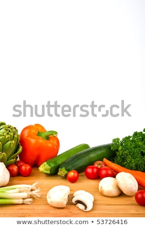 edible mushrooms on wooden cutting board and knife Stock photo © dolgachov