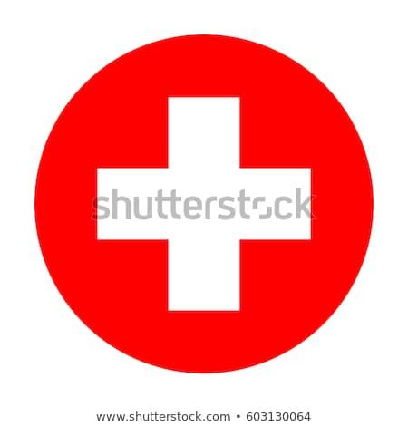hôpital · blanche · croix · rouge · cercle · structure - photo stock © vtorous