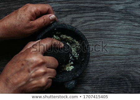 Pestle and Mortar with Spices Stock photo © frannyanne