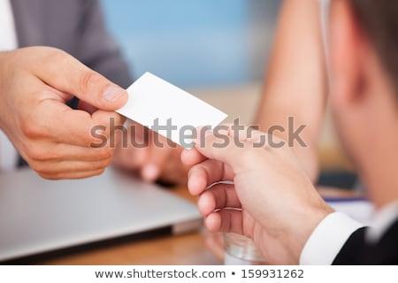 Tarjeta de visita intercambio referencia tarjeta oficina Foto stock © AndreyPopov