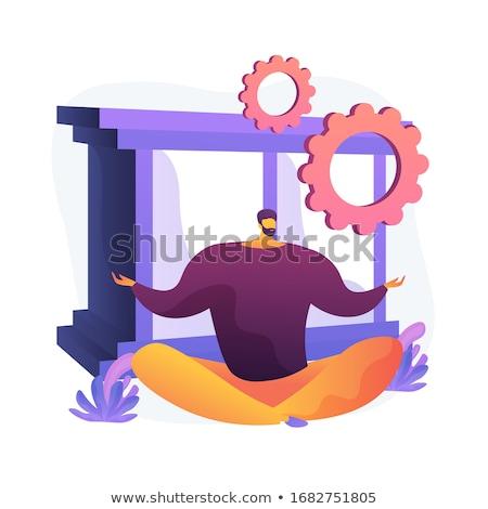 Stressz csökkentés tevékenység vektor metafora férfi Stock fotó © RAStudio