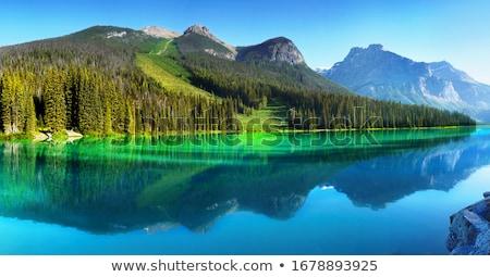 Lake with mountain reflection Stock photo © photoblueice