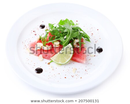 ストックフォト: スイカ · サラダ · 孤立した · 写真 · 新鮮な