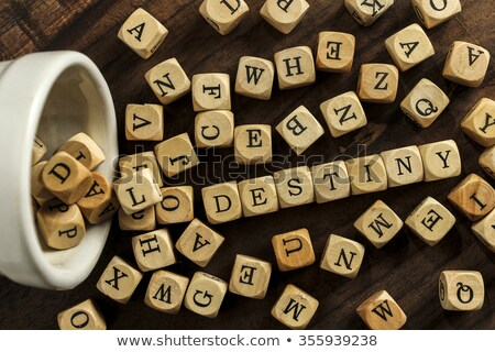 Lot woord hand stuk scheur papier Stockfoto © Ansonstock