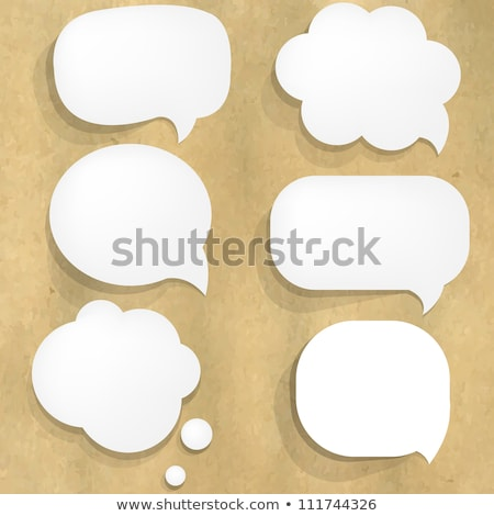 Old paper speech bubbles Stock photo © Hermione