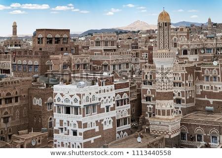 sanaa yemen   traditional yemeni architecture stock photo © travelphotography