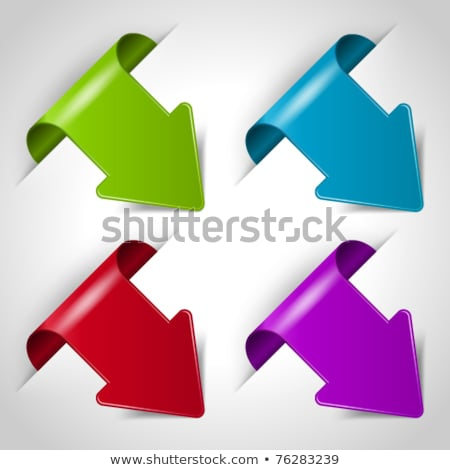 blue arrow bookmark stock photo © orson