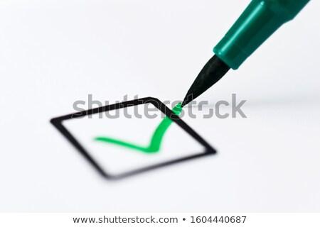 Questionnaire vert stylo affaires argent livre Photo stock © experimental