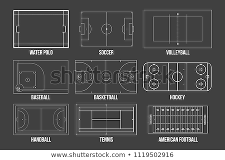 football, basketball, volleyball, tennis field and stadium Stock photo © pkdinkar