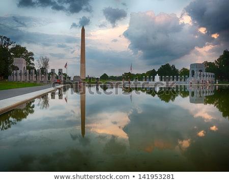 Washington Anıtı Washington DC ışık akşam karanlığı savaş kule Stok fotoğraf © rabbit75_sto