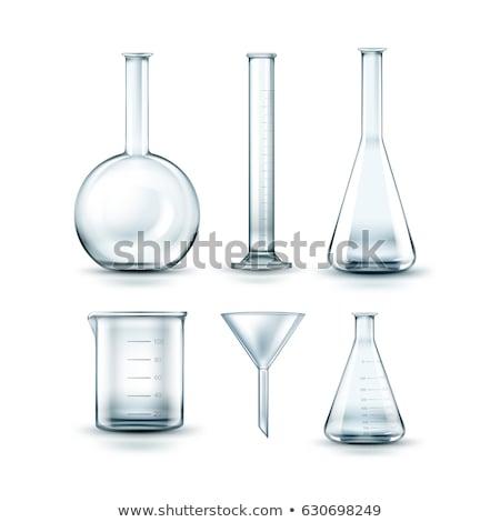 воронка лаборатория стекла материальных белый Сток-фото © posterize