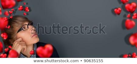 pensando · gerente · sessão · tabela · telefone · móvel - foto stock © hasloo