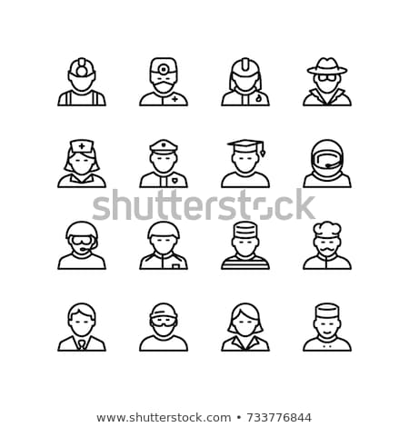 Kollázs vendégszeretet munkások férfiak bár öltöny Stock fotó © photography33