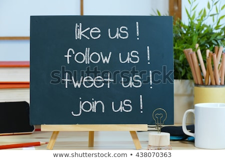 Join us - text on a blackboard Stock photo © bbbar