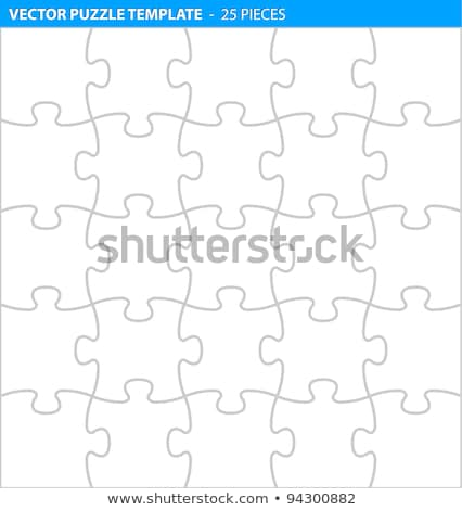 kleurrijk · puzzelstukjes · vier · samen · nummers · business - stockfoto © orson
