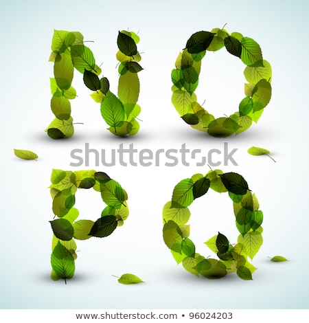 vector alphabet letters made from leafs stock photo © orson