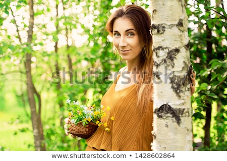 Donna betulla adulto duna sorriso donne Foto d'archivio © fotorobs