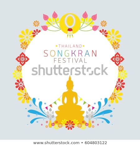 Boeddhisme ceremonie brandend wierook stick traditioneel Stockfoto © smithore