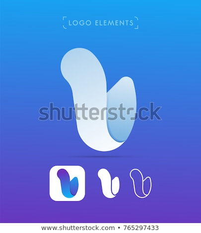 Glossy Icons for letter U stock photo © cidepix