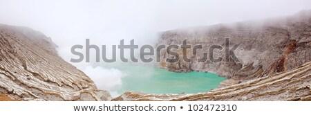 Panoráma Indonézia kráter vulkán bánya java Stock fotó © vichie81