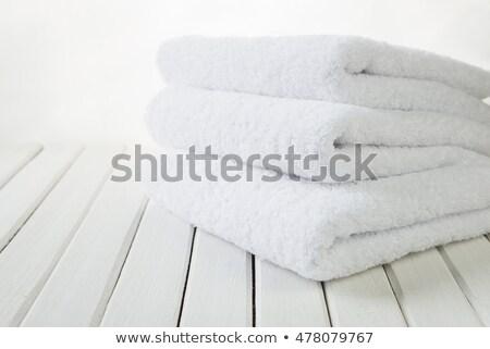 Three White Towels Stok fotoğraf © Epitavi