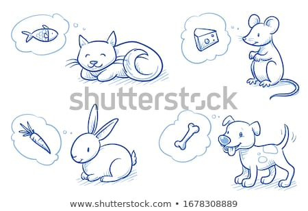 Figure cat, dog and mouse stock photo © jirisolecito