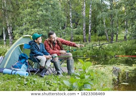 week-end · pêche · photo · grand-père · petit-fils · séance - photo stock © photography33