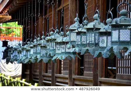 Stone lanterns in Nara stock photo © Arrxxx