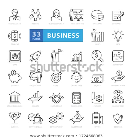 Business strategy icons Stock photo © carbouval