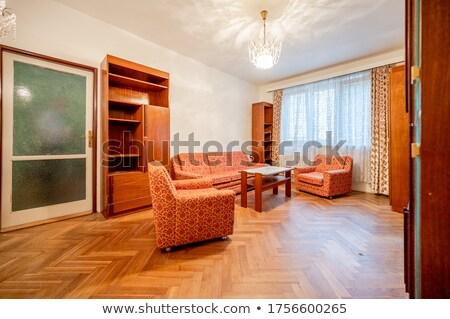 Belső öreg bútor fotel ház könyvek Stock fotó © Ciklamen