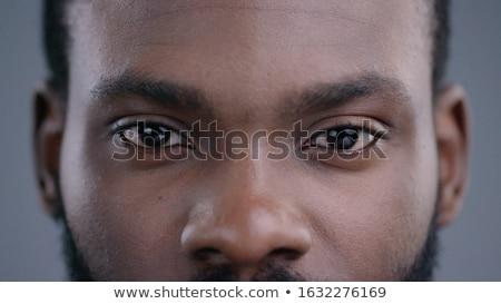 Schwarz Auge lange Wimpern schönen Stock foto © vlad_star